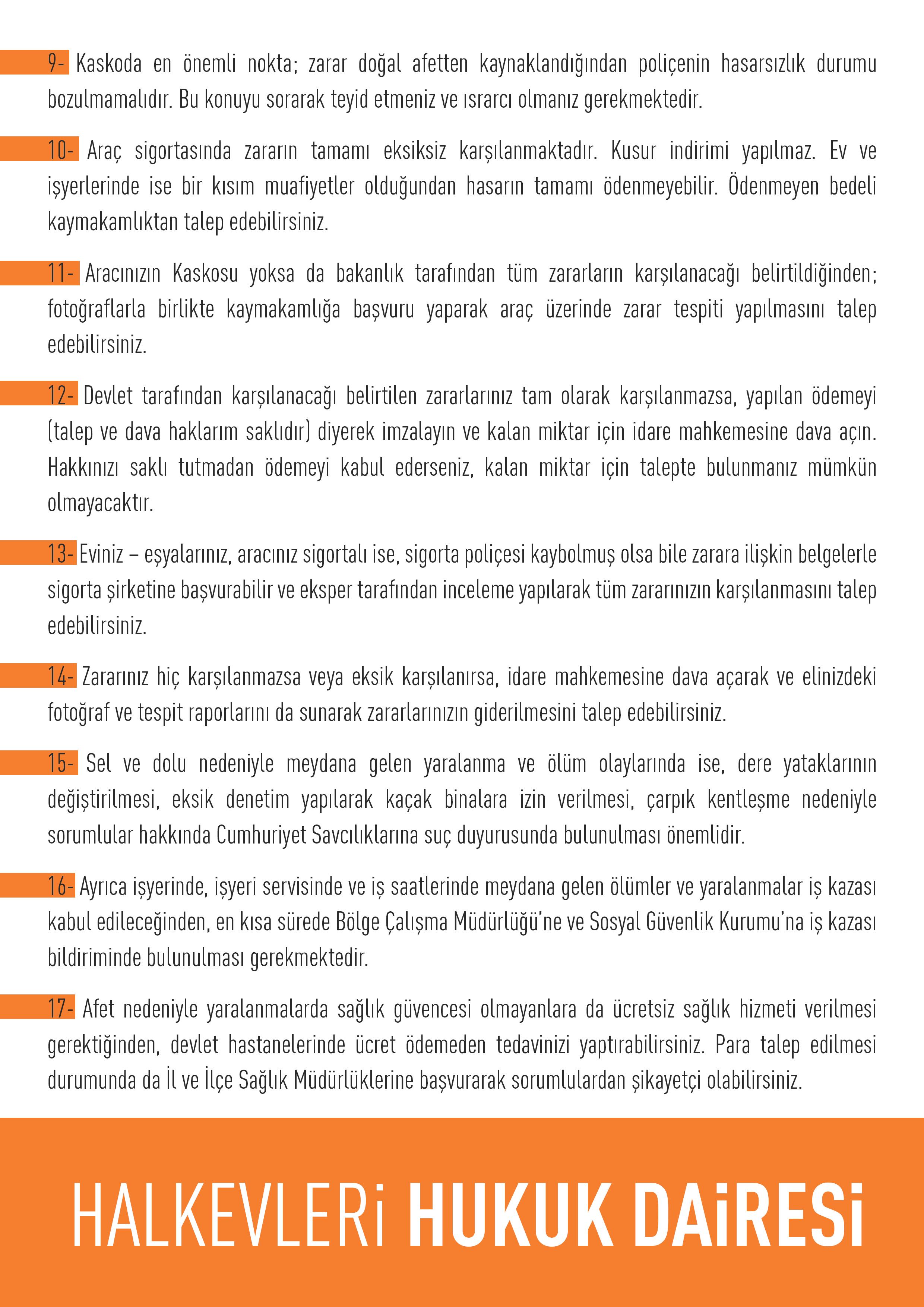 HHD-SEL YAPILMASI GEREKENLER-2